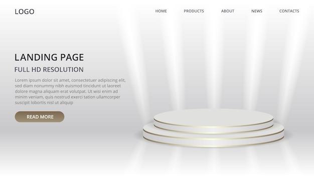 Landingpage-website-vorlage mit szene für produkt