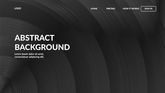 Landingpage-webvorlage mit modernen abstrakten stil für websites
