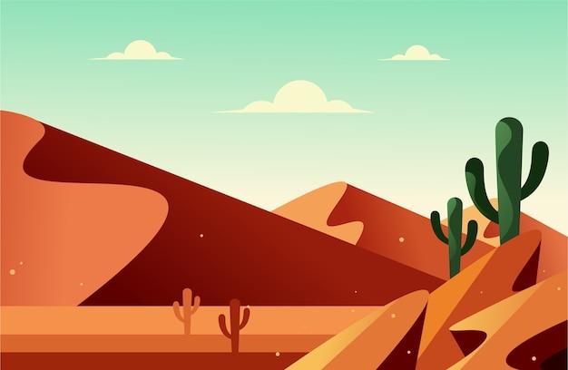 Landschaft der wüste