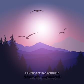 Landschaft hintergrunddesign