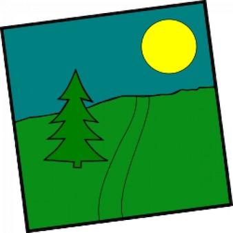 Landschaft mit einem picea