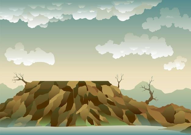 Landschaft mit ökologischer katastrophe