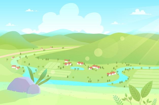 Landschaftslandschaftsillustrationskonzept