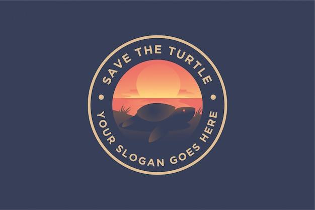 Landschaftslogo der schildkröte