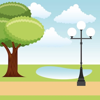 Landschaftspark und stadt