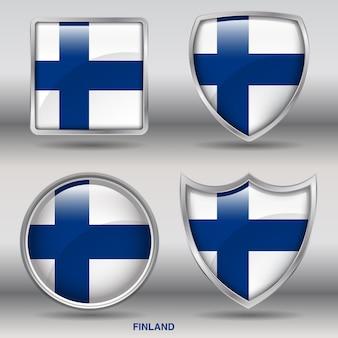 Landschräge flagge 4 formen symbol