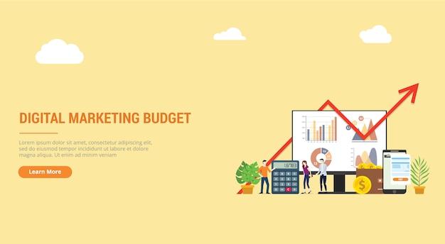 Landung der website für eine digitale marketingstrategie