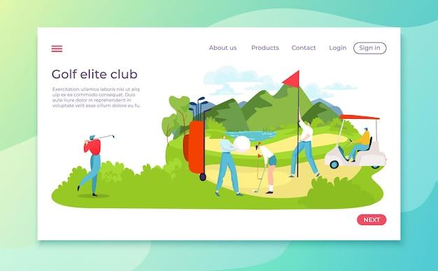 Landung des golfwettbewerbs