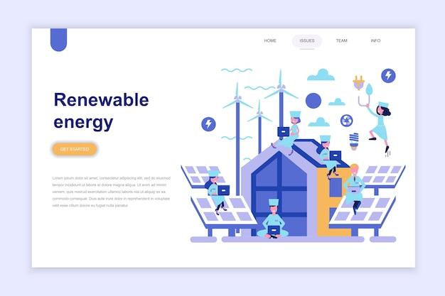 Landungsseitenvorlage der erneuerbaren energie