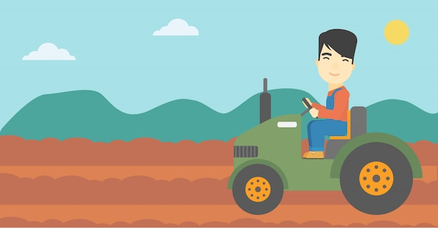 Landwirt traktor fahren