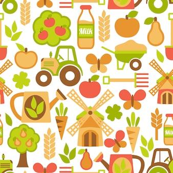 Landwirtschaft nahtlose muster