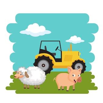 Landwirtschaft und landkonzept