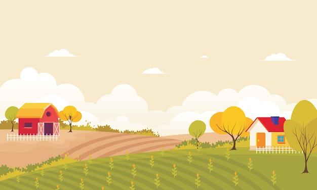 Landwirtschaft und landwirtschaft ländliche landschaft
