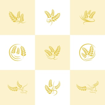 Landwirtschaft weizen logo eingestellt