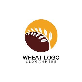 Landwirtschaft weizen logo vorlage vektor icon design