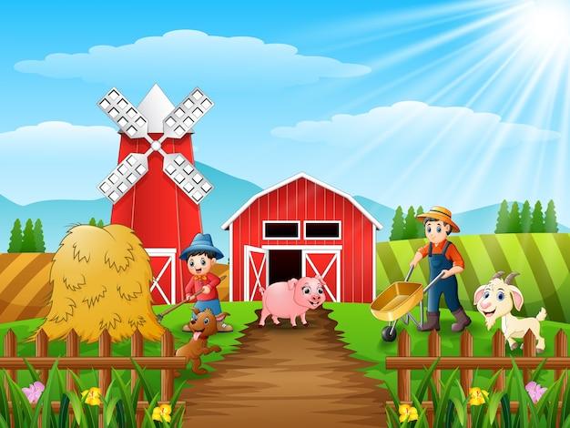Landwirtschaftliche aktivitäten auf bauernhöfen