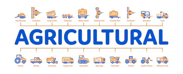 Landwirtschaftliche fahrzeuge banner