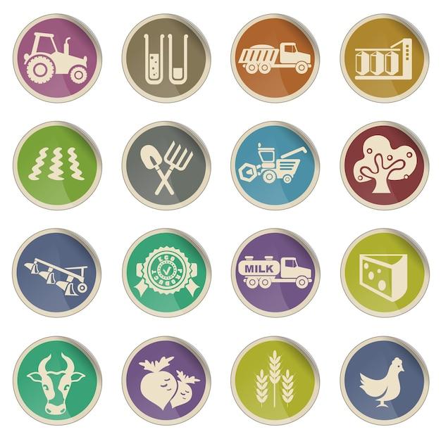 Landwirtschaftliche ikone. einfach symbol für web-icons