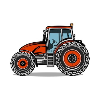 Landwirtschaftliche landwirtschaftsillustration des farbtraktors