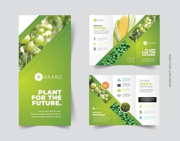 Landwirtschaftliche trifold-broschüre