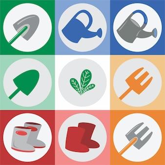 Landwirtschaftliche werkzeuge vektor und logo
