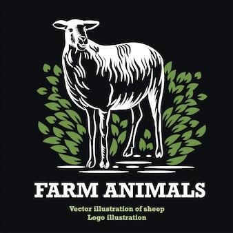 Landwirtschaftliches emblem. Premium Vektoren