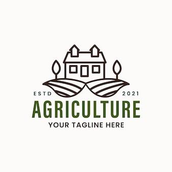 Landwirtschafts- und bauernhaus-emblem-logo