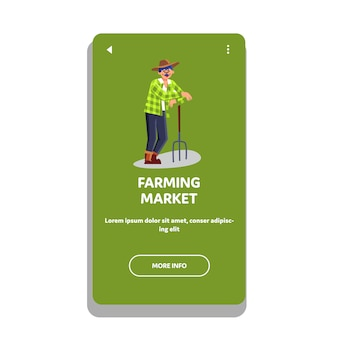 Landwirtschaftsmarkt natürliches gemüse und obst