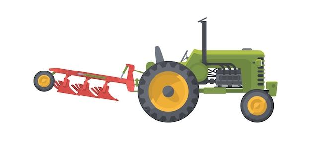 Landwirtschaftsmaschine lokalisiert auf weiß