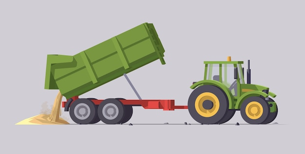 Landwirtschaftsmaschinen mit ausrüstung