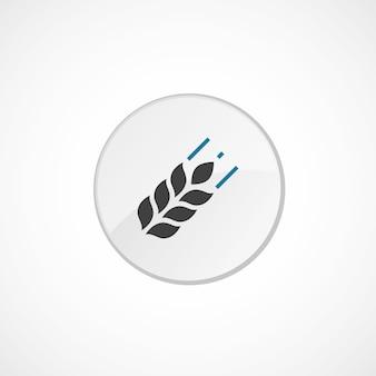 Landwirtschaftssymbol 2 farbig, grau und blau, kreisabzeichen