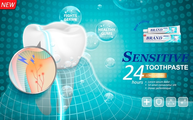 Lang anhaltende zahnpasta zur zahnbehandlung