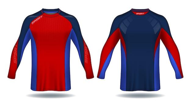 Langarm-fußball-jersey-vorlage. sport-t-shirt-design.