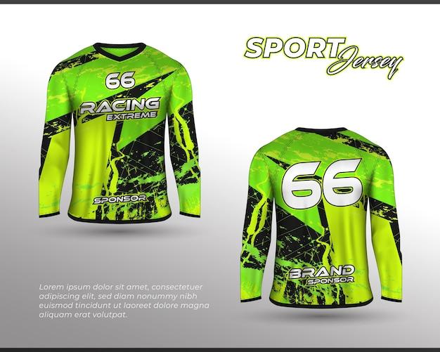 Langarm-sport-rennanzug front-back-t-shirt-design