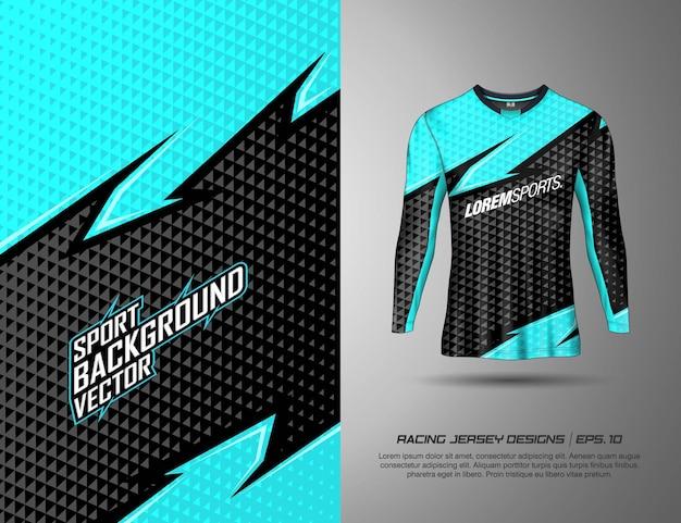 Langarm-t-shirt sport-design für renntrikot radfahren fußballspiele