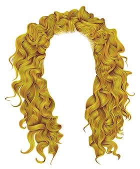Lange lockige haare isoliert auf weiß