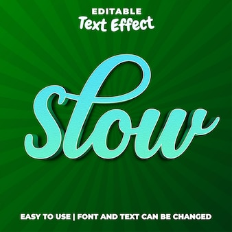 Langsam bearbeitbarer texteffektstil