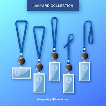 Lanyard-kollektion mit realistischem design