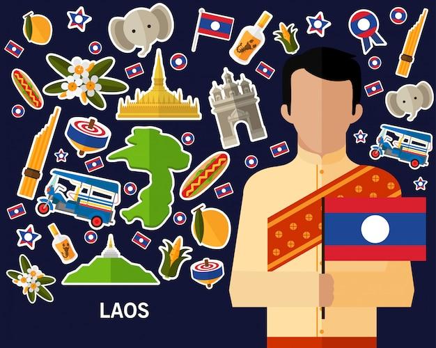 Laos konzept hintergrund