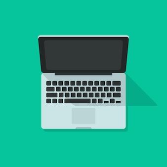 Laptop auf grün