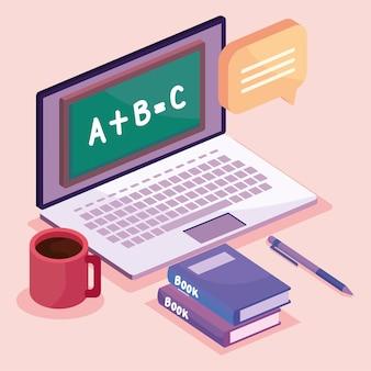Laptop für die online-bildung