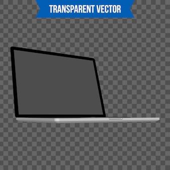 Laptop, isometrische schablone der art 3d des notizbuches.