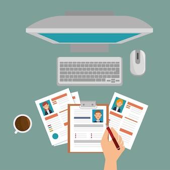 Laptop lehrplan rekrutierung design