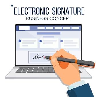 Laptop mit elektronischer signatur