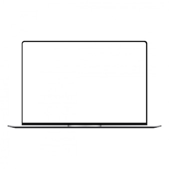 Laptop mit weißem bildschirmspott oben