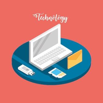 Laptop-technologie mit datendiensten verbinden