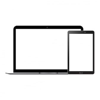 Laptop- und tablet-mock up
