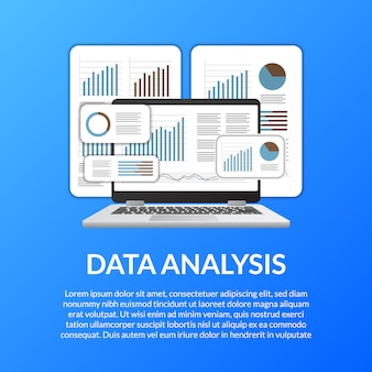 Laptopdiagramm, diagramm, stange des schirmes 3d, infographic für datenanalyse