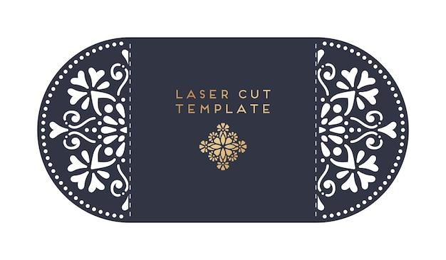 Laser geschnittene vorlage