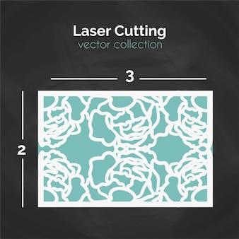 Laser geschnittene vorlage.